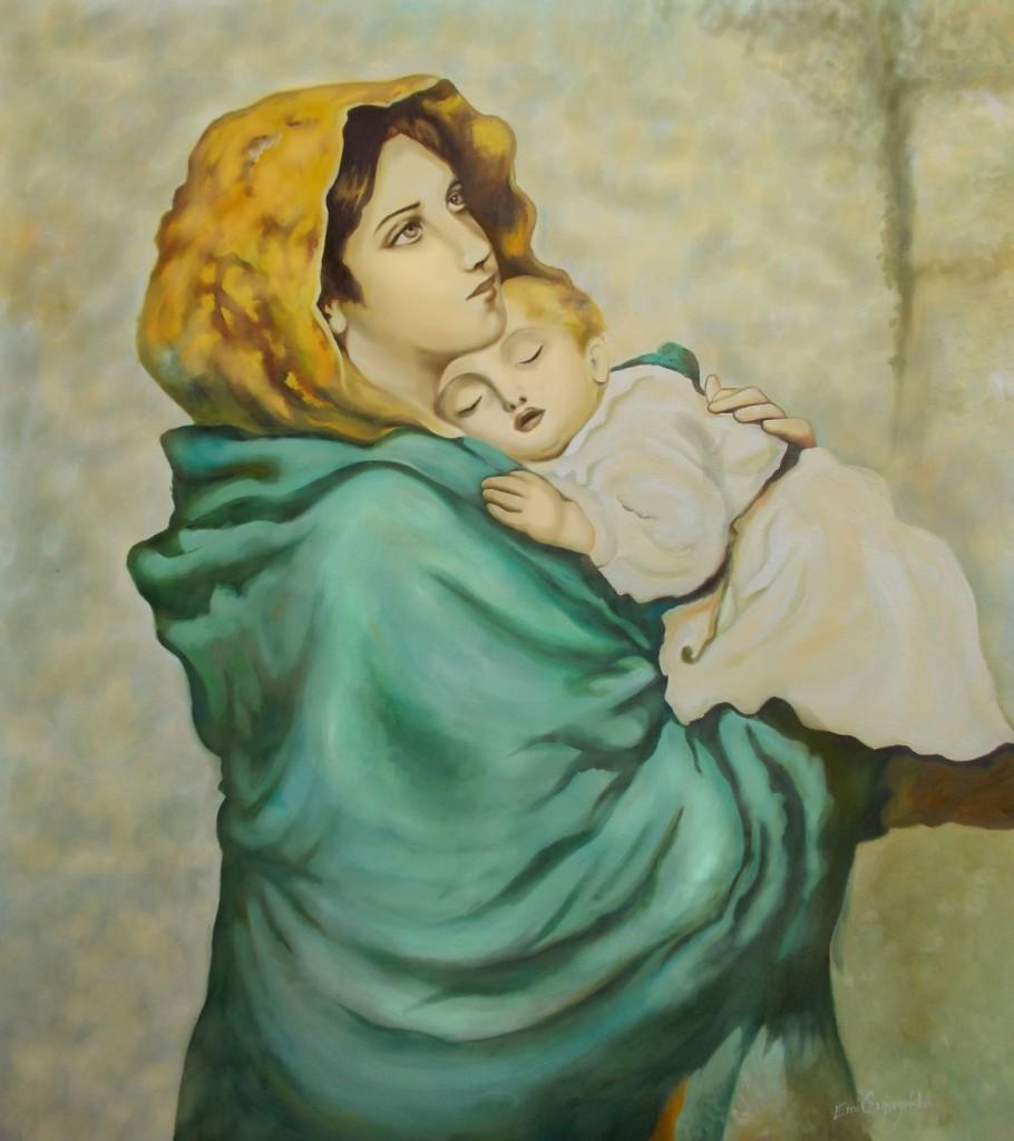 obrazy-olejne-Matka Boska Cyganska, Romska