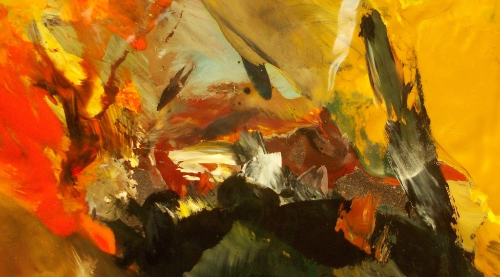 obrazy olejne -abstrakcja ogień i lawa