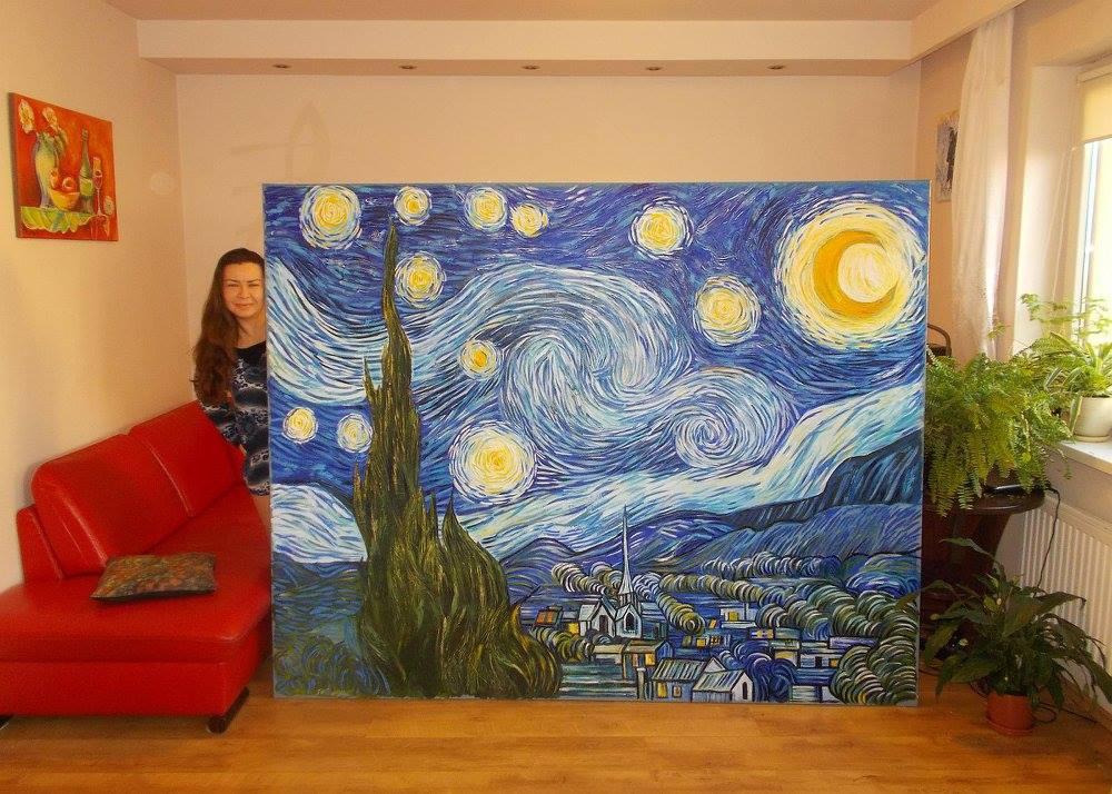 wielki obraz - gwiezdzista noc, vincent van gogh